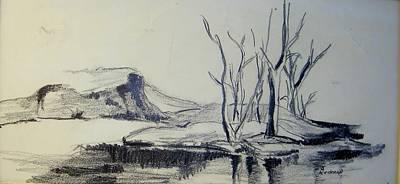 Colorado Pencil Sketch Poster by Judith Redman
