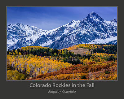 Colorado Rockies In The Fall - Ridgway Poster by Gary Whitton