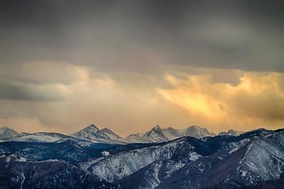 Colorado Rocky Mountain Continental Divide Gold Poster
