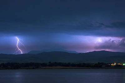 Poster featuring the photograph Colorado Rocky Mountain Foothills Storm by James BO Insogna