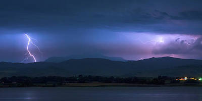 Poster featuring the photograph Colorado Rocky Mountain Foothills Storm Panorama by James BO Insogna