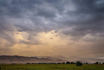 Poster featuring the photograph Colorado Rocky Mountain Foothills Storms by James BO Insogna