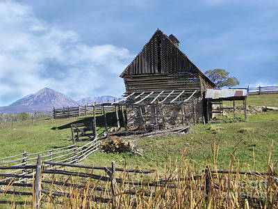 Colorado Rocky Mountain Vintage Barn   Poster