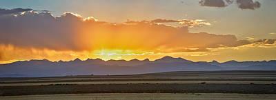 Colorado September Sunset Panorama Poster
