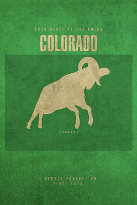 Colorado State Facts Minimalist Movie Poster Art Poster by Design Turnpike