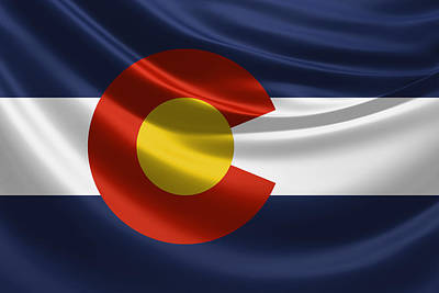 Colorado State Flag Poster by Serge Averbukh