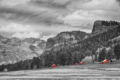 Colorado Western Landscape Red Barns Poster by James BO  Insogna