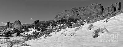 Poster featuring the photograph Colorado Winter Rock Garden Black And White by Adam Jewell