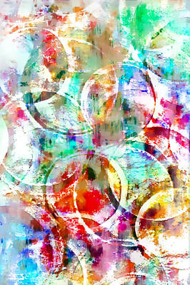 Colorful Abstract Poster by Tom Gowanlock