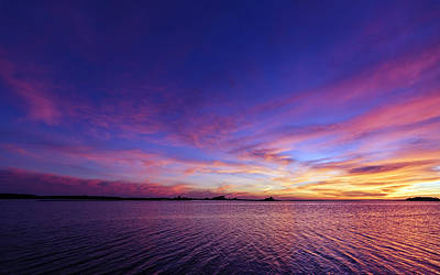 Colorful Assateague Sunset - Maryland Poster by SharaLee Art