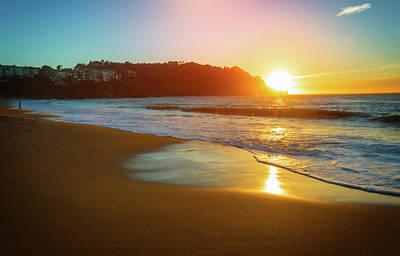 Colorful Baker Beach Sunset - San Francisco Poster
