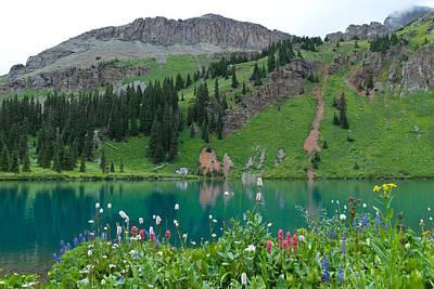 Colorful Blue Lakes Landscape Poster