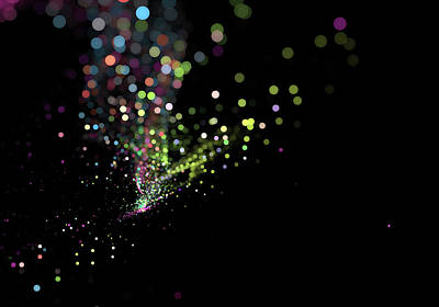 Colorful Bokeh Particles Background Poster