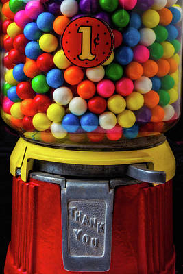 Colorful Bubblegum Machine Poster by Garry Gay