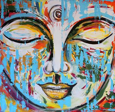 Colorful Buddha Poster by Theresa Marie Johnson