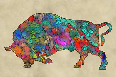 Colorful Buffalo Poster by Jack Zulli