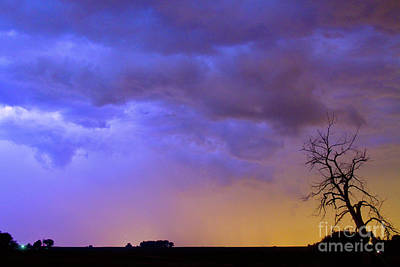 Colorful C2c Lightning Country Landscape Poster