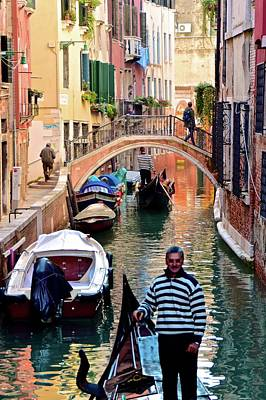 Colorful Canals Poster by Frozen in Time Fine Art Photography