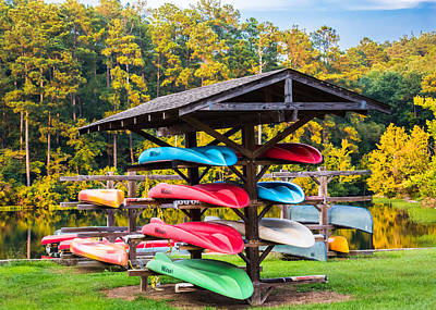 Colorful Canoes Poster by Parker Cunningham