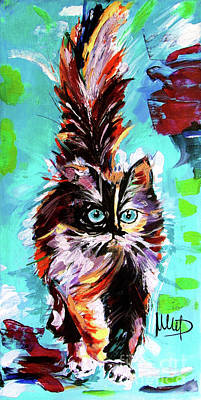 Colorful Cat Poster by Melanie D