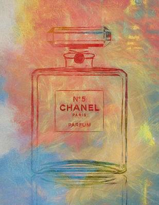 Colorful Chanel Five Poster by Dan Sproul
