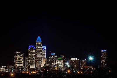 Colorful Charlotte, North Carolina Skyline Poster by Serge Skiba