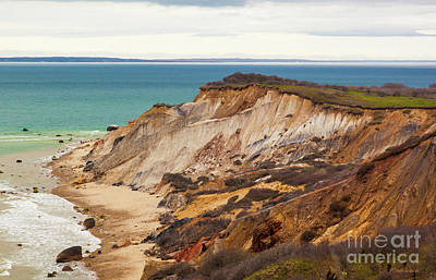 Poster featuring the photograph Colorful Clay Cliffs On The Vineyard by Michelle Wiarda