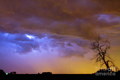 Colorful Cloud To Cloud Lightning Stormy Sky Poster