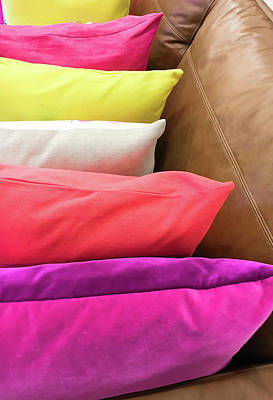 Colorful Cushions Poster