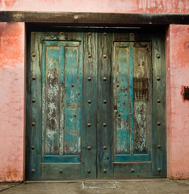 Colorful Doors Antigua Guatemala Poster by Douglas Barnett