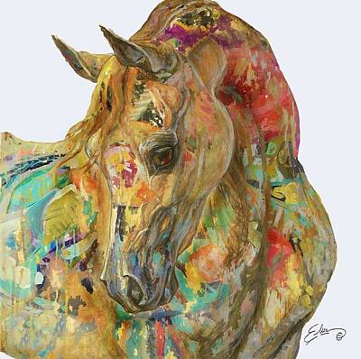 Colorful Equine  Poster by Sheila Elsea