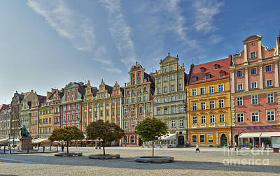 colorful facades on Market Square or Ryneck of Wroclaw Poster by Juergen Ritterbach