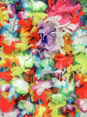 Colorful Floral Garlands Poster by Tom Gowanlock