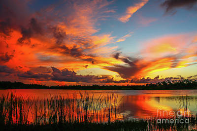 Colorful Fort Pierce Sunset Poster by Tom Claud