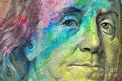 Colorful Franklin Poster by Jon Neidert