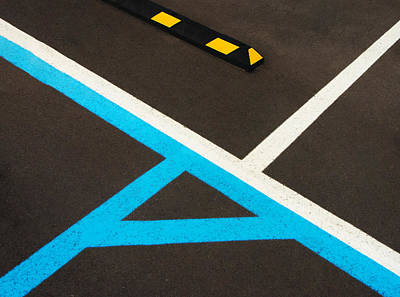 Colorful Geometry In The Parking Lot Poster