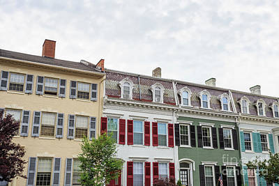 Colorful Historic Row Houses Poster by Edward Fielding