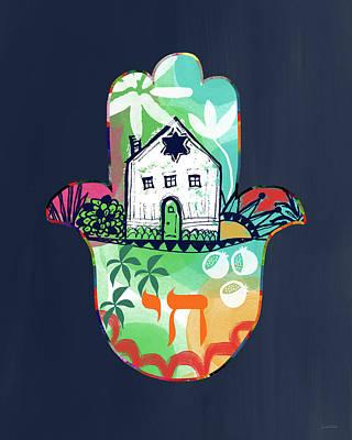 Colorful Home Hamsa- Art By Linda Woods Poster