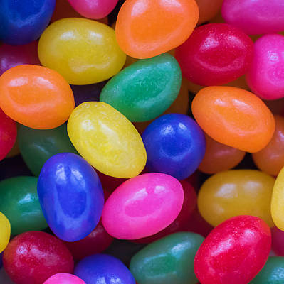 Colorful Jelly Beans Square Poster