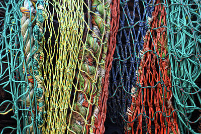 Colorful Layers Of Fishing Nets Poster
