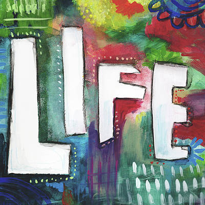 Colorful Life- Art By Linda Woods Poster by Linda Woods