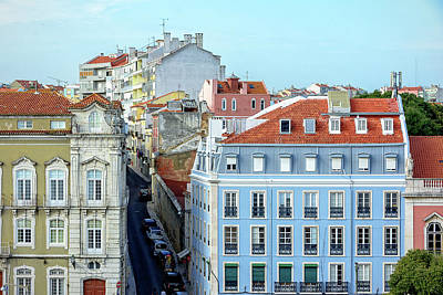 Poster featuring the photograph Colorful Lisbon by Marion McCristall