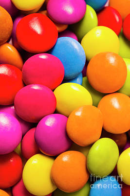 Colorful Lollies Macro Photography Poster
