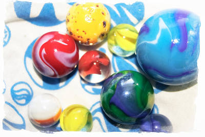 Colorful Marbles Poster by Colleen Kammerer