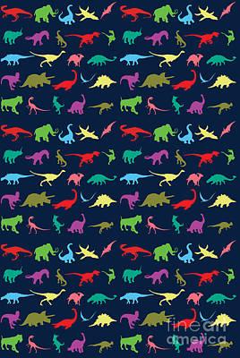 Colorful Mini Dinosaur Poster by Naviblue
