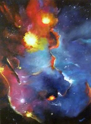 Colorful Nebula Poster