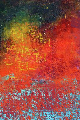 Poster featuring the painting Colorful Night by Nancy Merkle