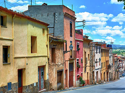 Colorful Old Houses In Tarragona Poster