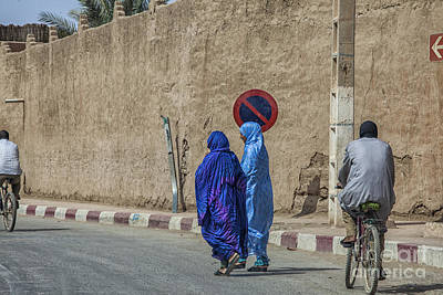 Colorful Outfits On The Street In Morocco Poster by Patricia Hofmeester