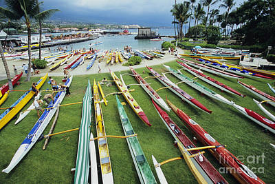Colorful Outrigger Canoes Poster by Joss - Printscapes